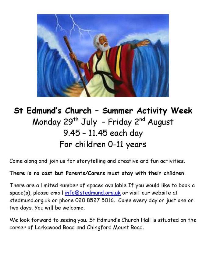 Summer Activity Week 2019